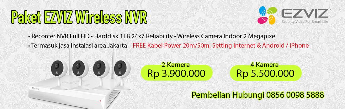 Paket CCTV EZVIZ Wireless 2MP Lengkap berikut dengan Instalasi di area Jakarta